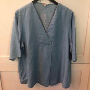 COS Top Shirt Blue Chambray Women US14 EU44